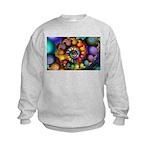 Textured Fractal Spiral Kids Sweatshirt