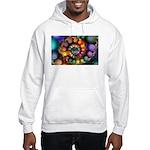 Textured Fractal Spiral Hooded Sweatshirt