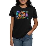 Textured Fractal Spiral Women's Dark T-Shirt