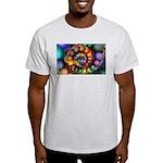 Textured Fractal Spiral Light T-Shirt