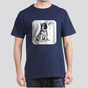 Puppy and Grasshopper Dark T-Shirt