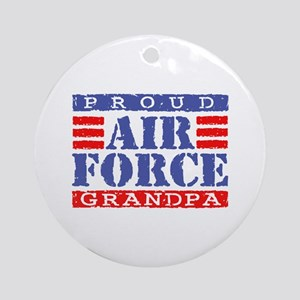 Proud Air Force Grandpa Ornament (Round)