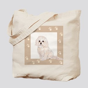 Cockapoo Painting Paw Print Frame Tote Bag