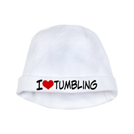 I Heart Tumbling baby hat