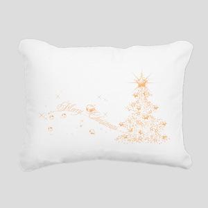 Red Golden Christmas Rectangular Canvas Pillow