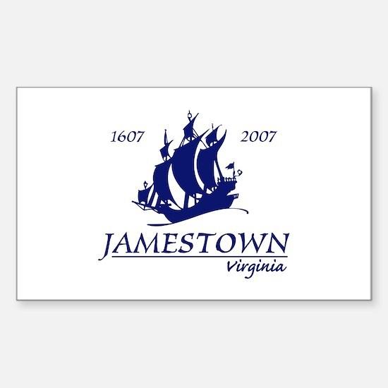 Jamestown Virginia Rectangle Decal