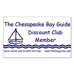 The Bay Guide Discount Club Sticker
