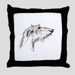 Scruffy Lurcher Throw Pillow
