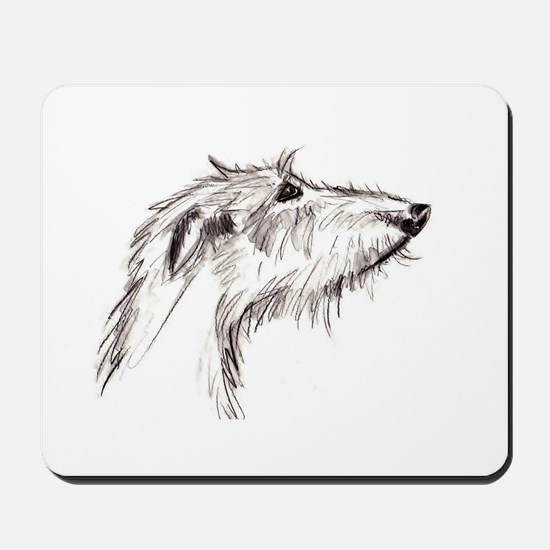 Scruffy Lurcher Mousepad