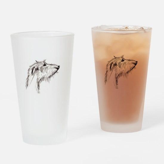 Scruffy Lurcher Drinking Glass