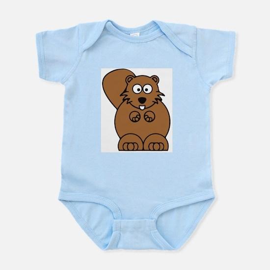 Front facing beaver Infant Bodysuit