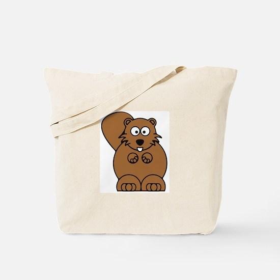 Front facing beaver Tote Bag