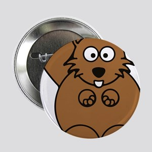 "Front facing beaver 2.25"" Button"