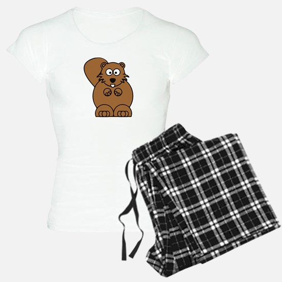 Front facing beaver Pajamas