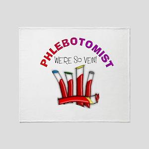 phlebotomist were so vein Throw Blanket