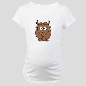Goat - Gnu front facing Maternity T-Shirt