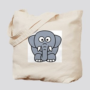 Front facing elephant Tote Bag