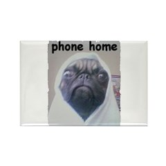 PHONE HOME PUG Rectangle Magnet (100 pack)