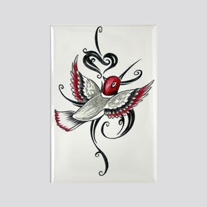 Hummingbird Tribal Rectangle Magnet
