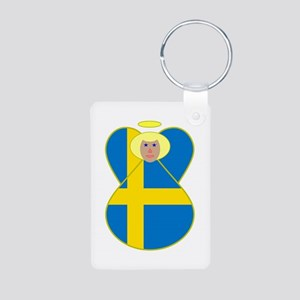 Swedish Flag Angel Blonde Hair Aluminum Photo Keyc
