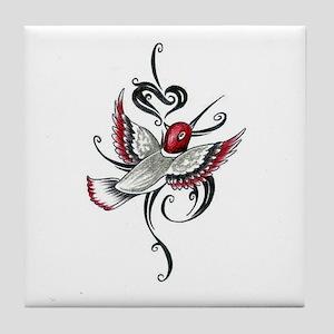 Hummingbird Tribal Tile Coaster
