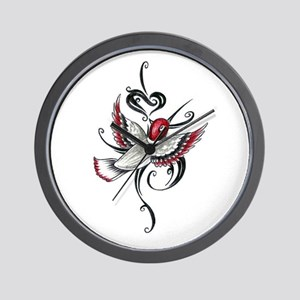 Hummingbird Tribal Wall Clock