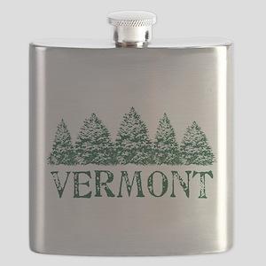 VT Winter Evergreens Flask