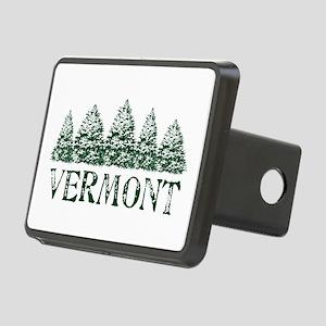 VT Winter Evergreens Rectangular Hitch Cover