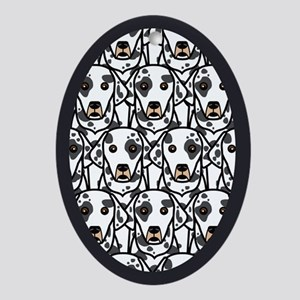 Dalmatians Oval Ornament