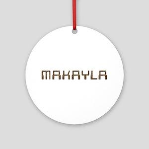 Makayla Circuit Round Ornament