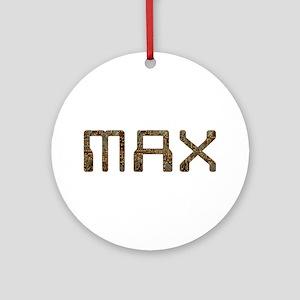 Max Circuit Round Ornament
