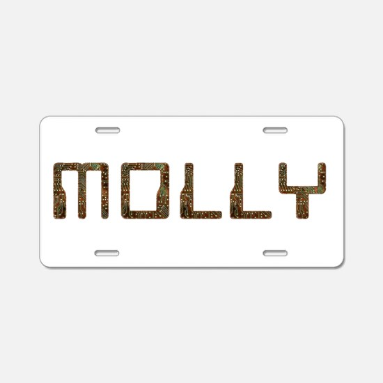 Molly Circuit Aluminum License Plate