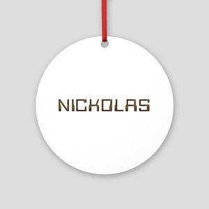 Nickolas Circuit Round Ornament