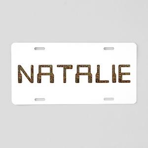 Natalie Circuit Aluminum License Plate