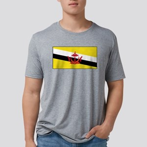 Brunei - National Flag - Current Mens Tri-blend T-