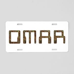 Omar Circuit Aluminum License Plate