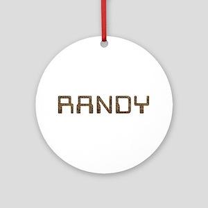 Randy Circuit Round Ornament