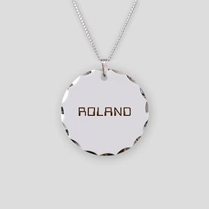 Roland Circuit Necklace Circle Charm