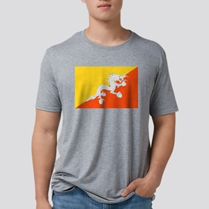 Bhutan - National Flag - Current Mens Tri-blend T-