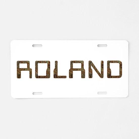 Roland Circuit Aluminum License Plate