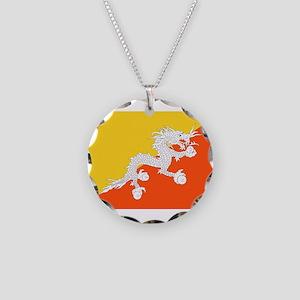 Bhutan - National Flag - Current Necklace Circle C