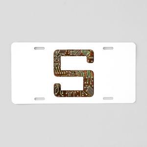 S Circuit Aluminum License Plate