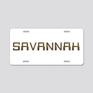 Savannah Circuit Aluminum License Plate