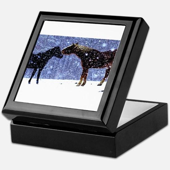 Snow Horse Friends Keepsake Box