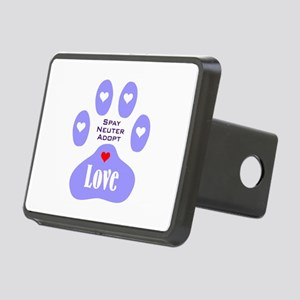 Paw Of Love Rectangular Hitch Cover