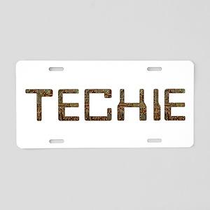 Techie Circuit Aluminum License Plate