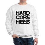Hard Core Hebrew Rough B&W Sweatshirt