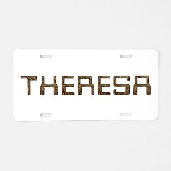 Theresa Circuit Aluminum License Plate