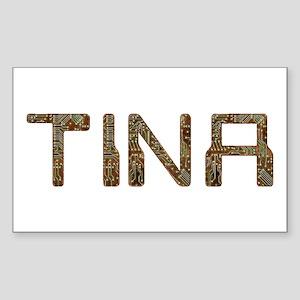 Tina Circuit Rectangle Sticker