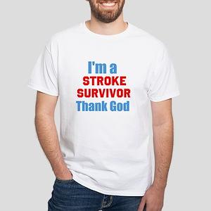 Stroke Survivor White T-Shirt